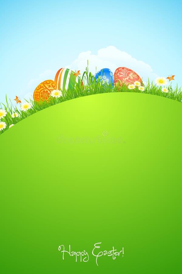 Piękny Wielkanocny Wakacyjny tło ilustracja wektor