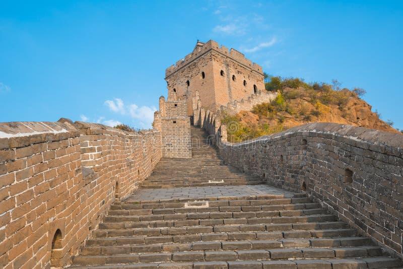 Piękny wielki mur Chiny zdjęcia royalty free