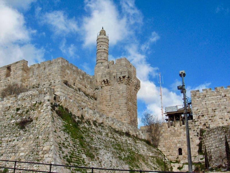 Piękny wierza David w Izrael zdjęcia royalty free