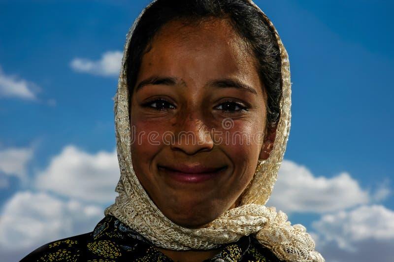 Piękny, wioski dziewczyna, zakończenie w górę portreta w Harran, Turcja zdjęcie royalty free