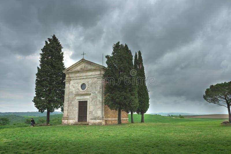 Piękny wiosna krajobraz w Tuscany zdjęcia stock