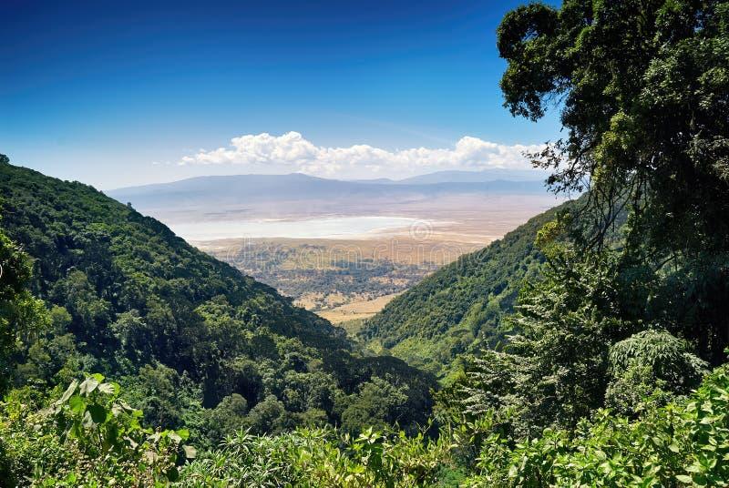 Piękny wizerunek Ngorongoro krater w Tanzania, zdjęcie royalty free
