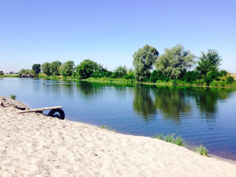piękny wizerunku natury rzeki lato zdjęcie royalty free
