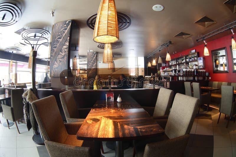 Piękny wnętrze nowożytna restauracja obraz royalty free