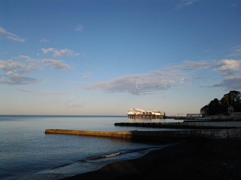 Piękny wschód słońca nad Czarnym morzem fotografia royalty free