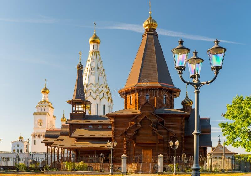 Piękny Wszystkie święty Kościelni na słonecznym dniu, Minsk fotografia stock