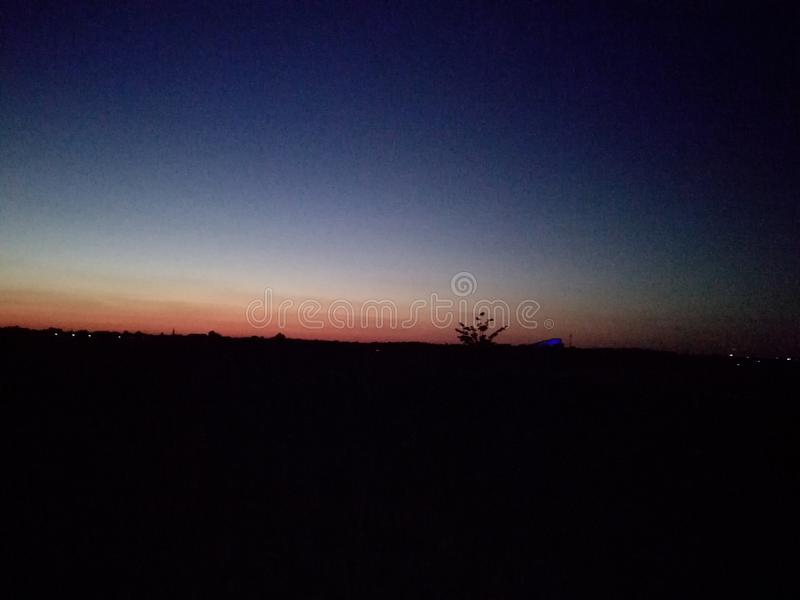 Piękny wunset niebo obrazy stock