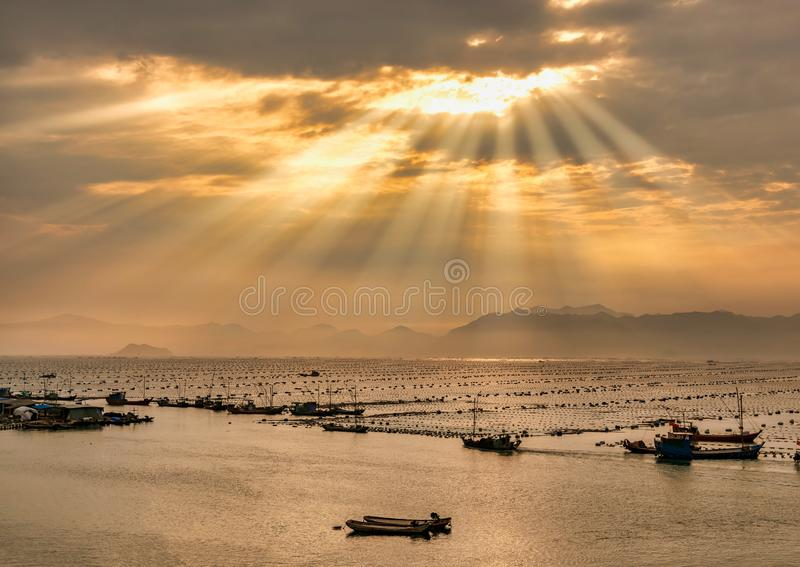 Piękny wybrzeże Chiny obrazy royalty free