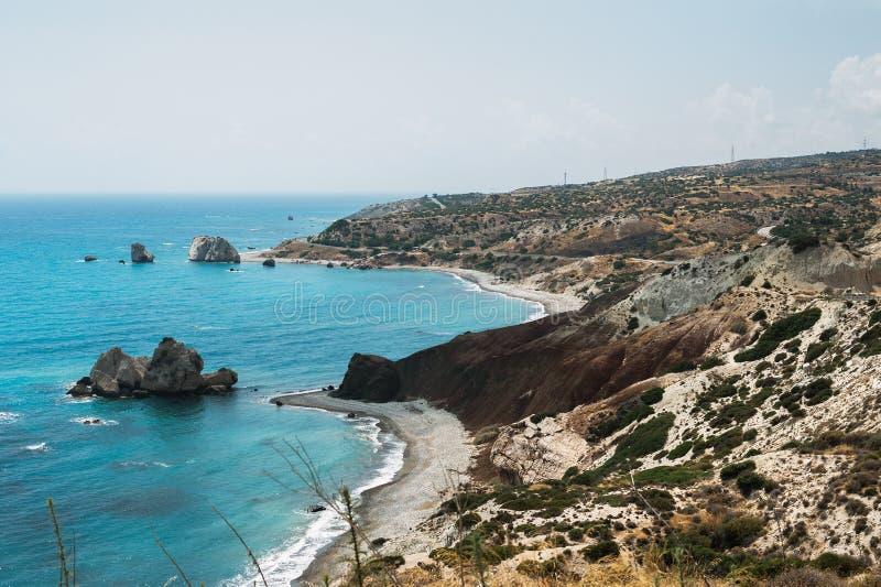 Piękny wybrzeże Cypr fotografia stock