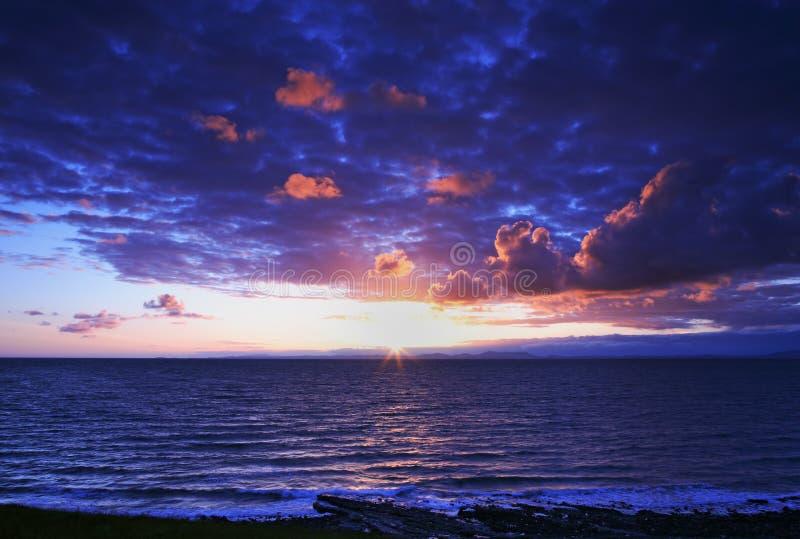 piękny zachód słońca obrazy stock