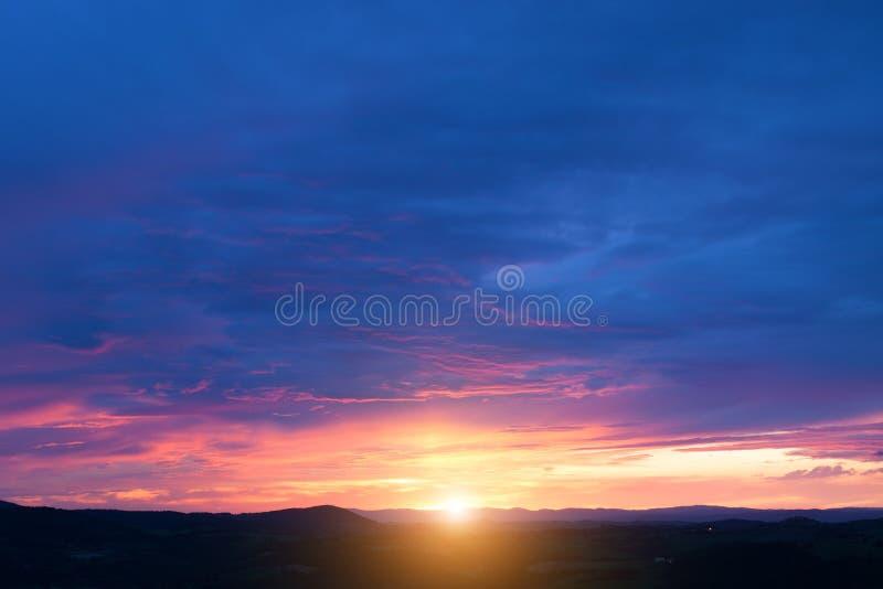 piękny zachód słońca obraz stock