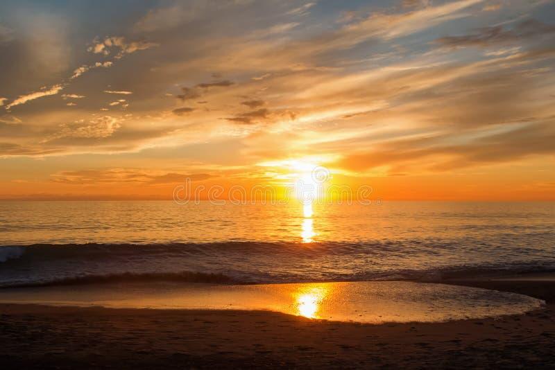 piękny zachód słońca fotografia royalty free