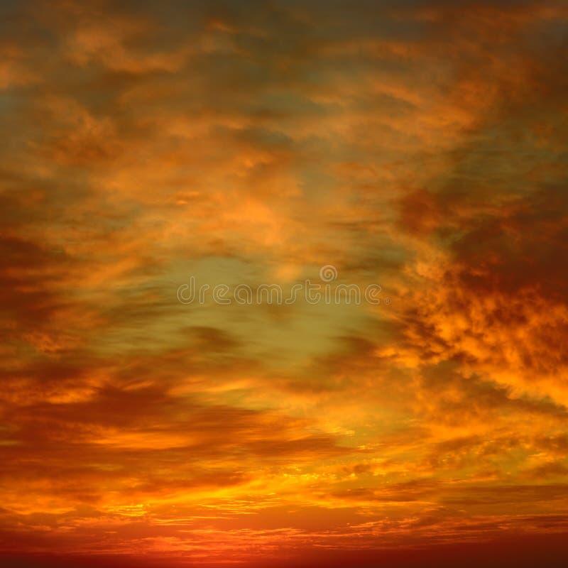 piękny zachód słońca bright fotografia stock