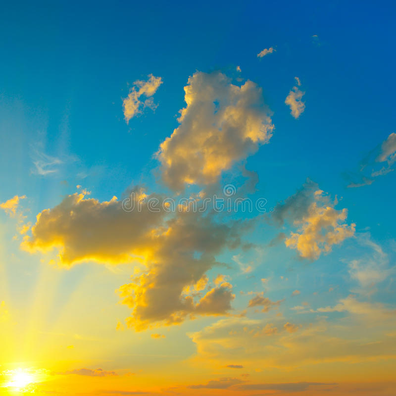 piękny zachód słońca bright obraz stock