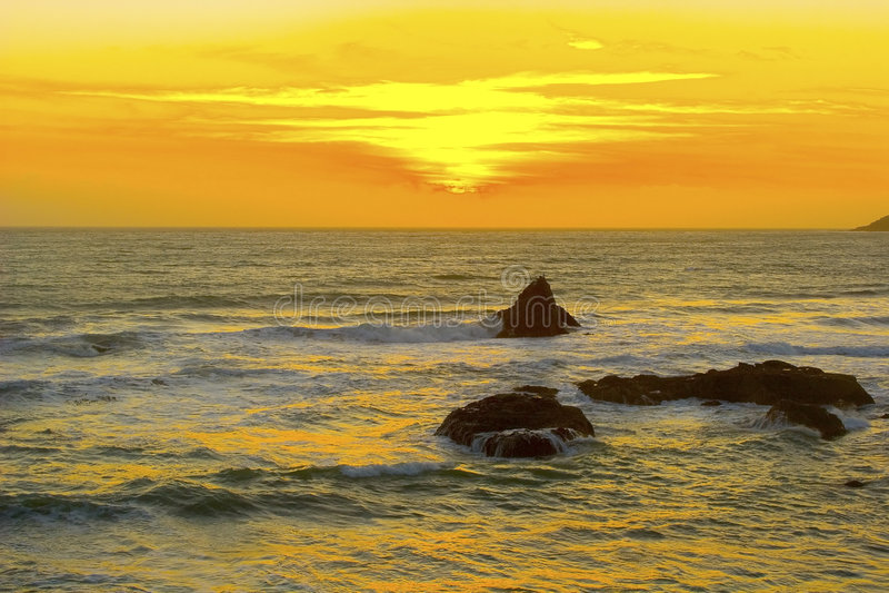 piękny zachód słońca Kalifornii obraz stock