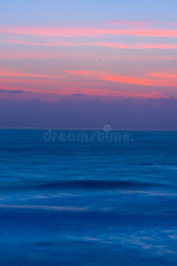 piękny zachód słońca Kalifornii obraz royalty free