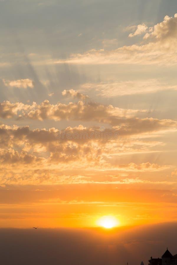 piękny zachód słońca morza fotografia royalty free