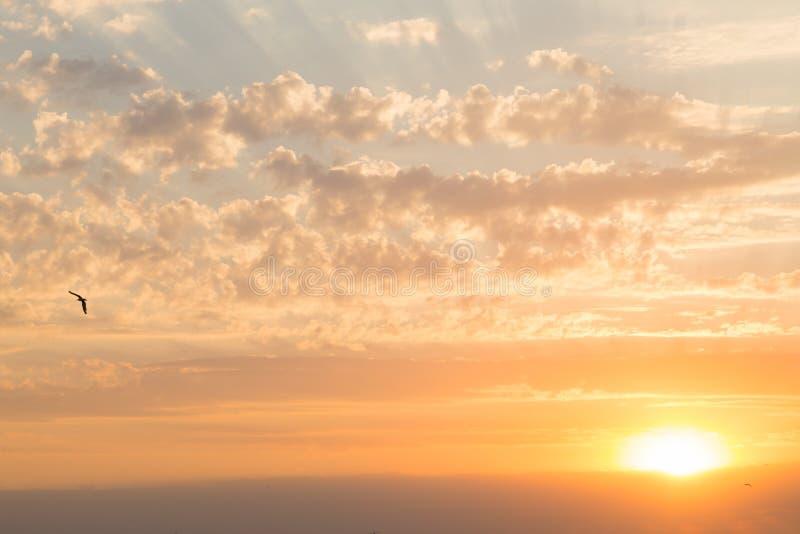 piękny zachód słońca morza obraz royalty free