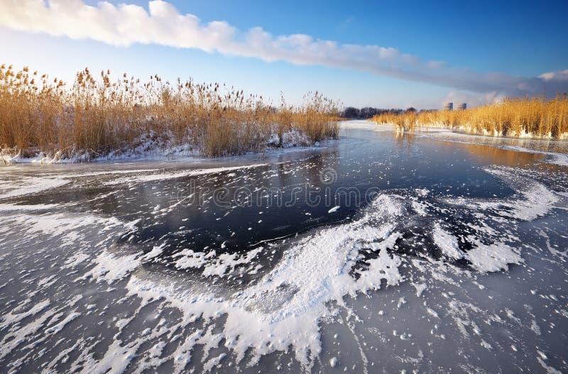 Piękny zimy landscape zdjęcie royalty free