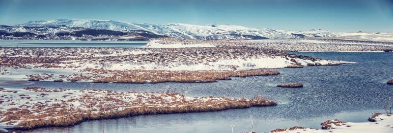 Piękny zimy landscape zdjęcia stock