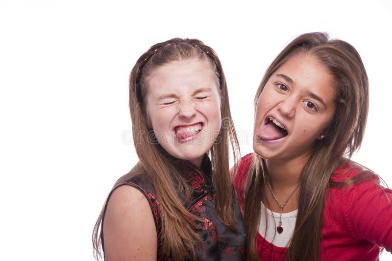 pięknych dziewczyn nastoletni dwa potomstwa obraz stock
