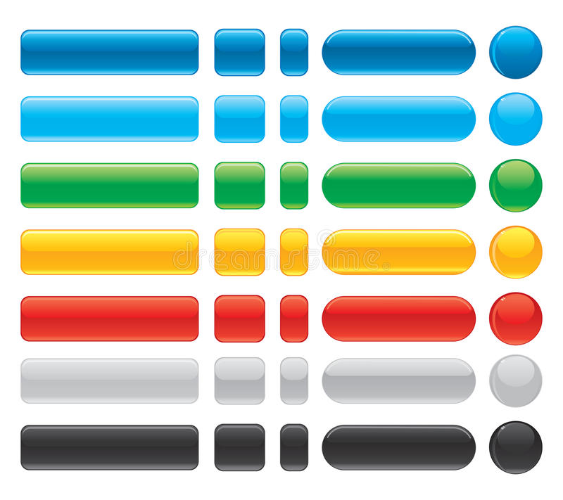 pięknych guzików internetów błyszczący wektor ilustracji