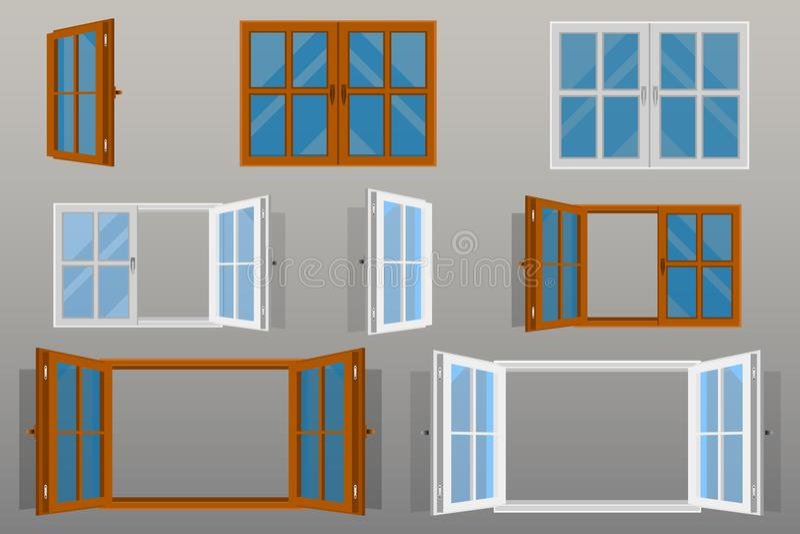 Pięknych okno projekta wektorowa ilustracja ilustracja wektor