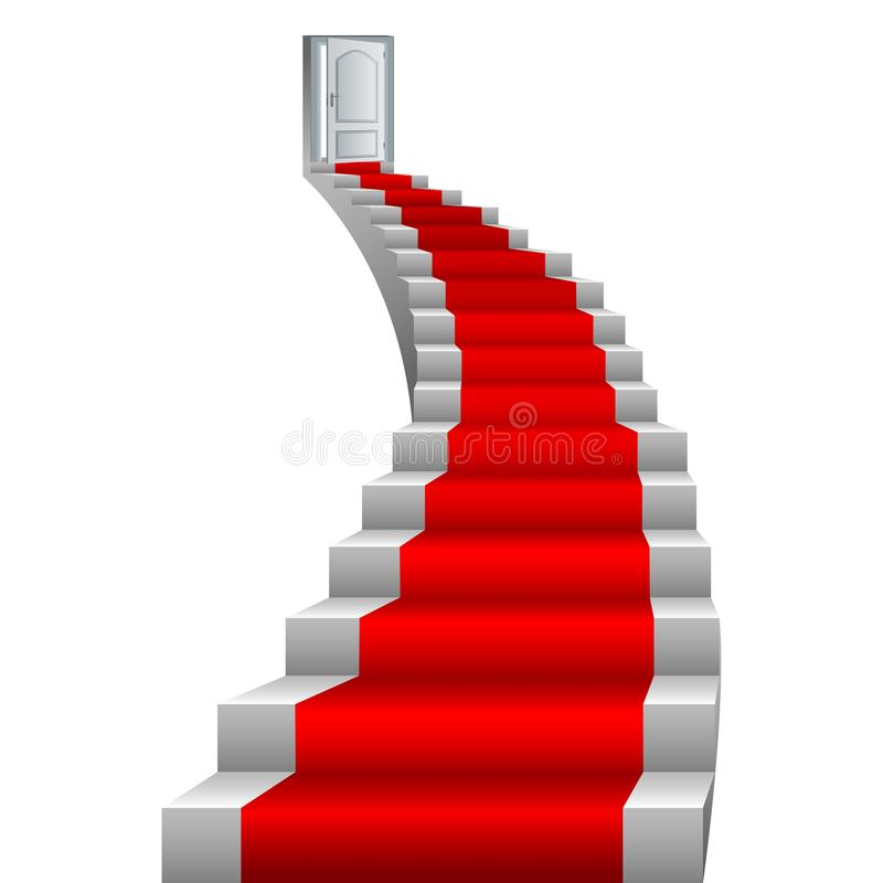 Pięknych schodków wektorowy ilustracyjny projekt ilustracji