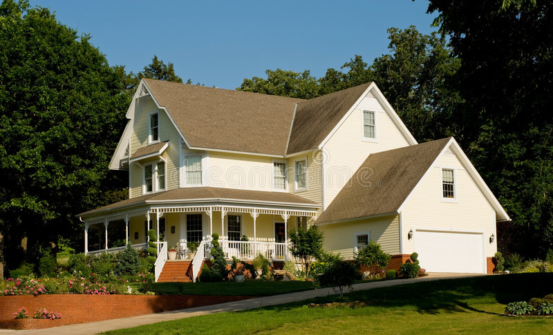 pięknym domu zdjęcie royalty free