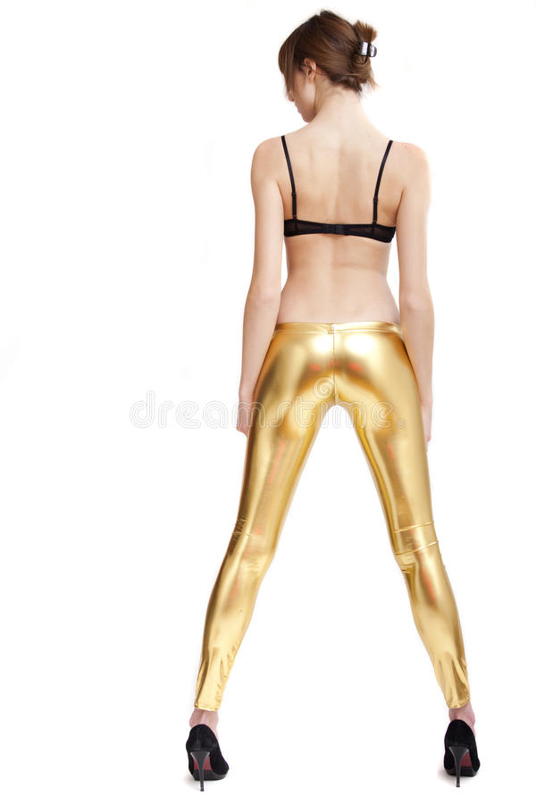 pięt leggings kobieta zdjęcie royalty free