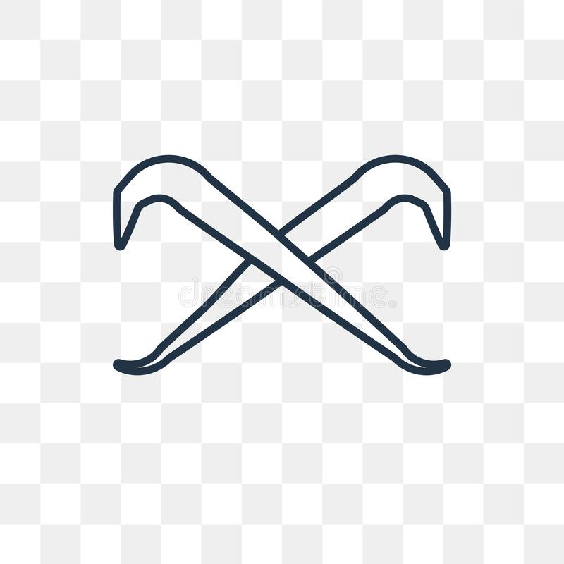 Piętak wektorowa ikona odizolowywająca na przejrzystym tle, liniowy C ilustracji