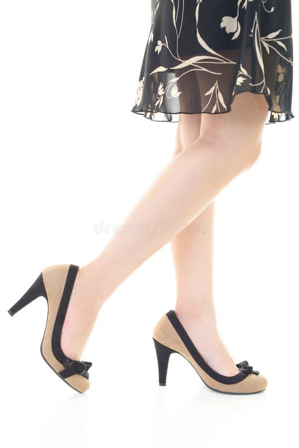 pięty kobieta wysoka target1899_0_ zdjęcie stock