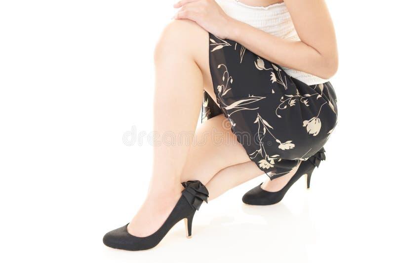 pięty kobieta wysoka target1899_0_ zdjęcia stock