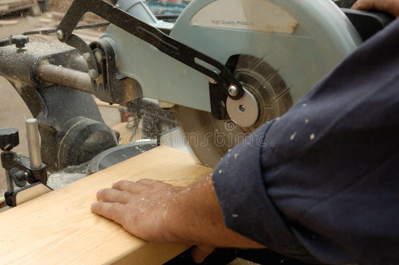piła carpenter ręce obraz stock