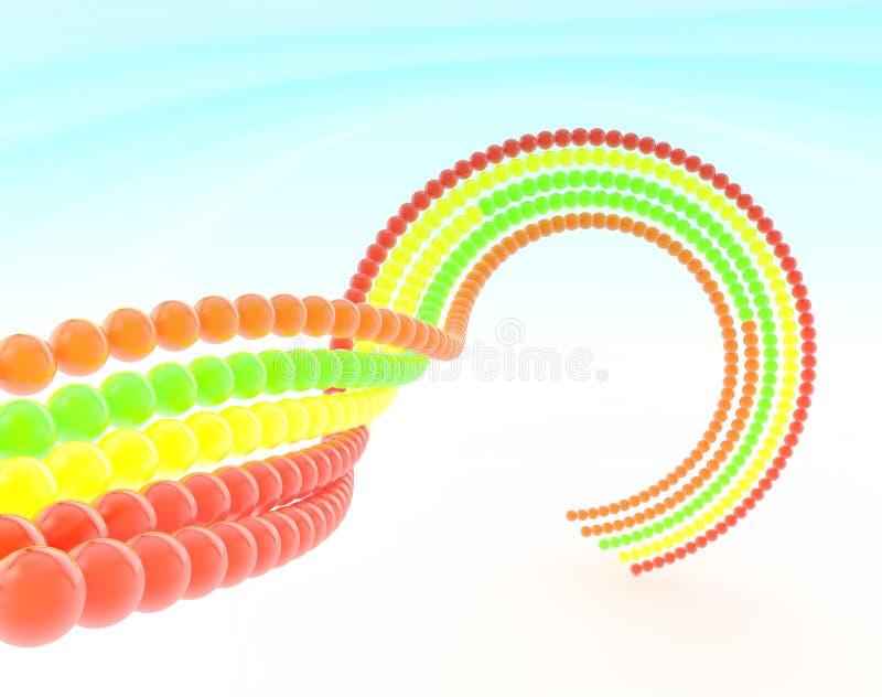 piłek łańcuchu kolor ilustracja wektor