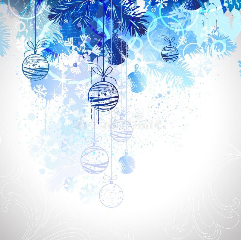 piłek błękit boże narodzenia royalty ilustracja