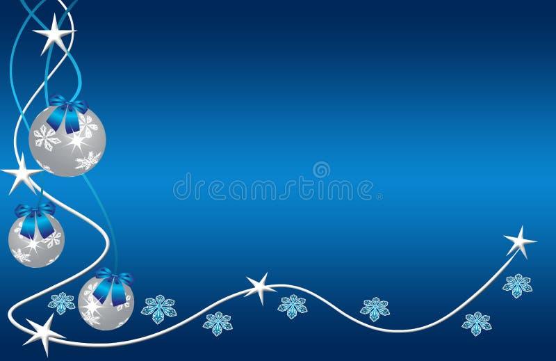 piłek błękit boże narodzenia ilustracja wektor