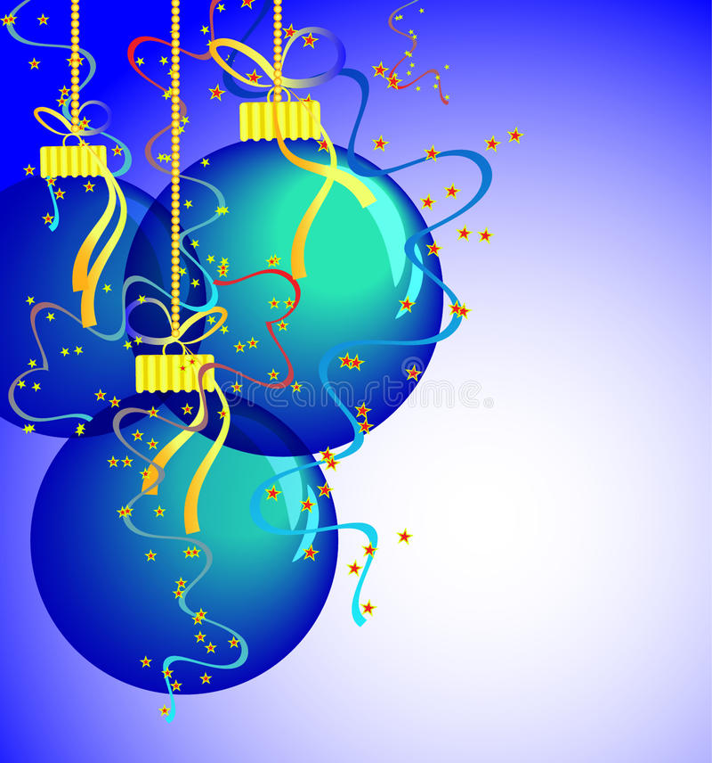 piłek błękit karty nowy s rok ilustracji