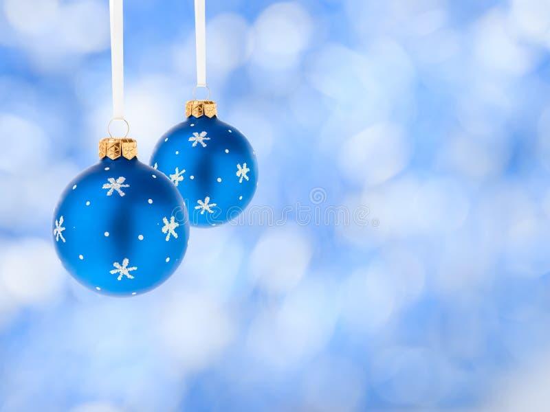 piłek błękitny bożych narodzeń dekoracja obraz royalty free