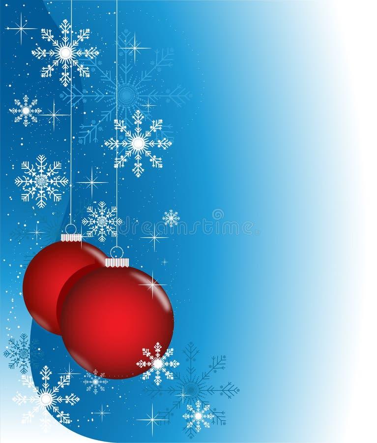 piłek błękitny czerwieni zima ilustracji