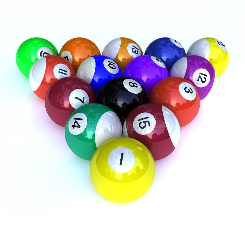 piłek billiards royalty ilustracja