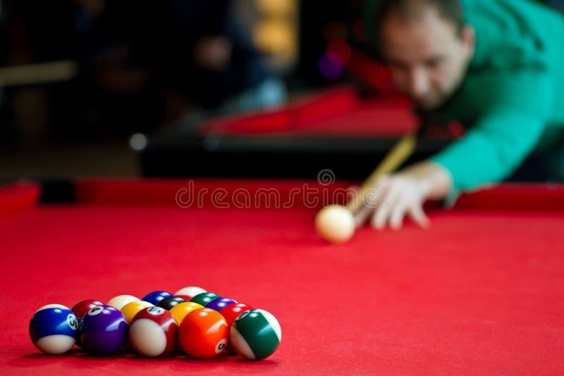 piłek billiards osiem zdjęcia royalty free