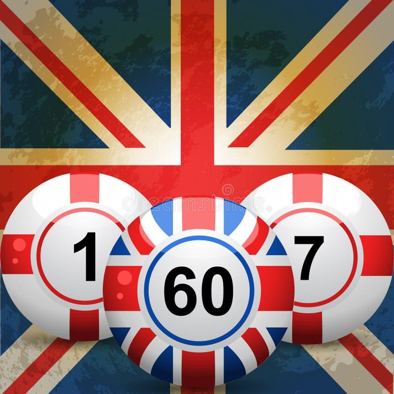 piłek bingo England chorągwianej dźwigarki uk zjednoczenie ilustracji