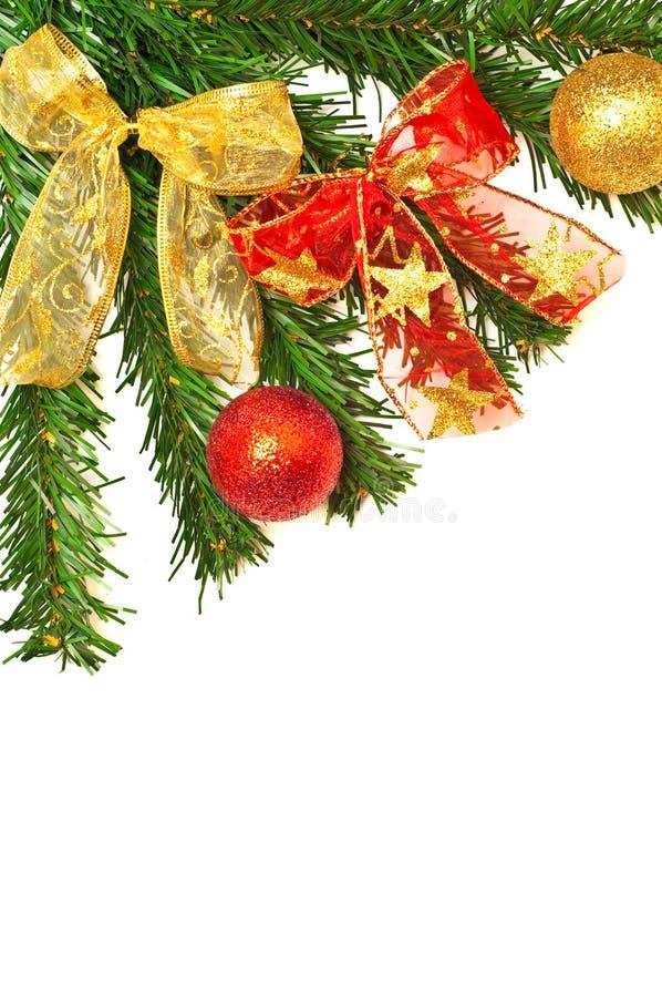 piłek gałąź christmass faborki drzewni zdjęcie royalty free