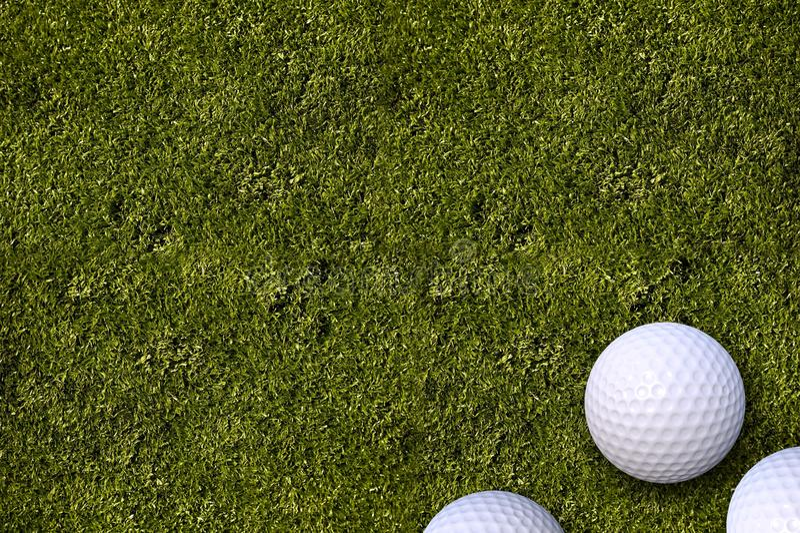 Piłek Golfowych Golfa Pole zdjęcia royalty free