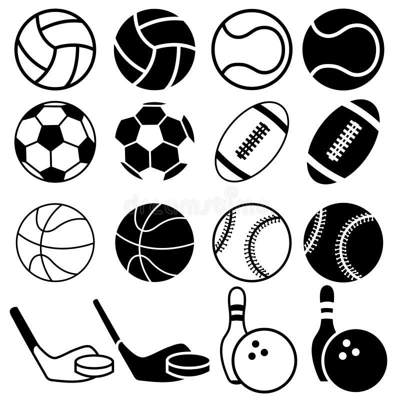 piłek ikon ilustracyjny sportów wektor ilustracji