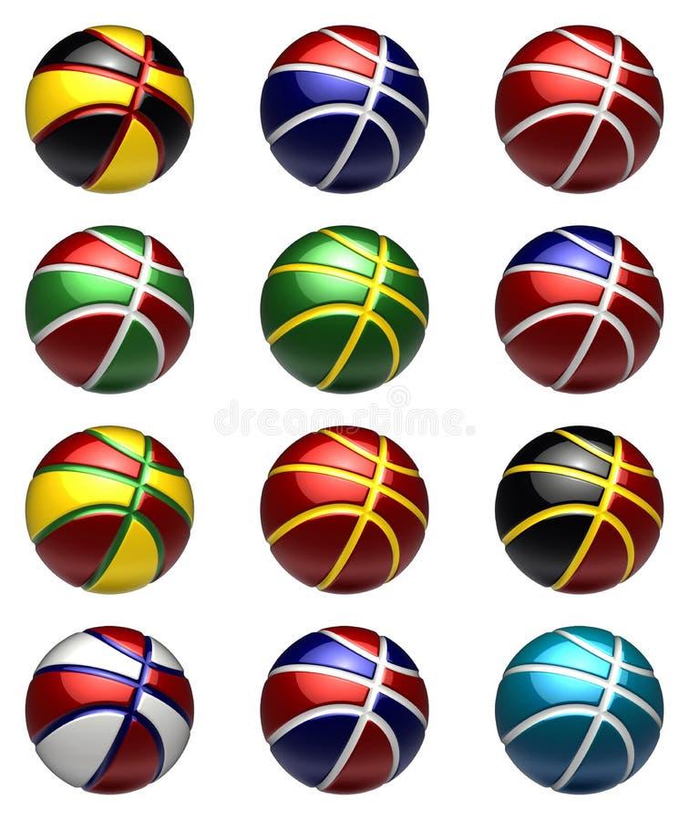 piłek koszykówki obywatel royalty ilustracja