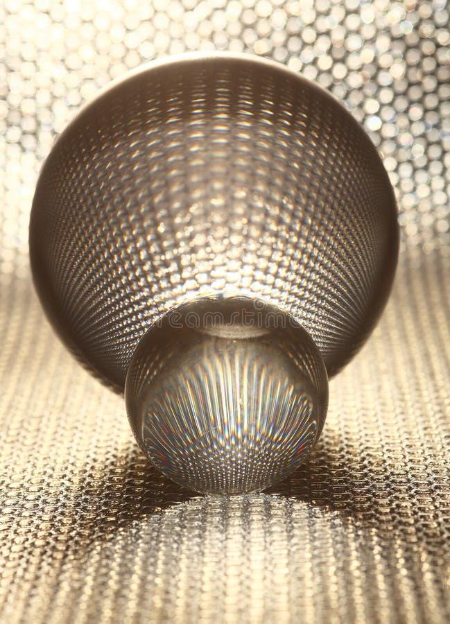 piłek kryształu srebro obraz stock
