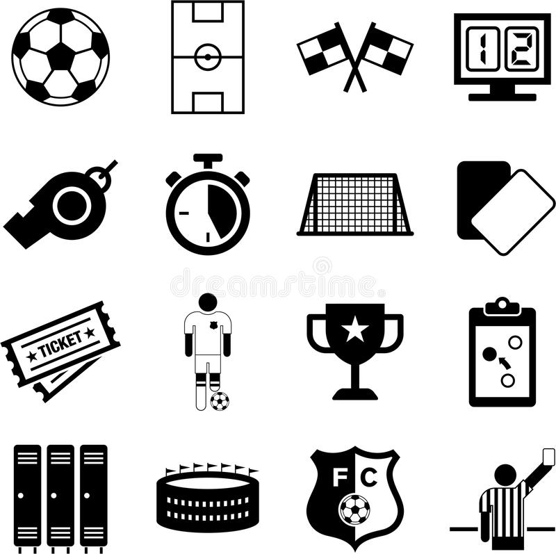 Piłek nożnych ikony royalty ilustracja