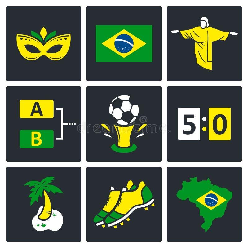 Download Piłek Nożnych Ikony Ustawiać Ilustracji - Ilustracja złożonej z początki, konkurencyjny: 42525501